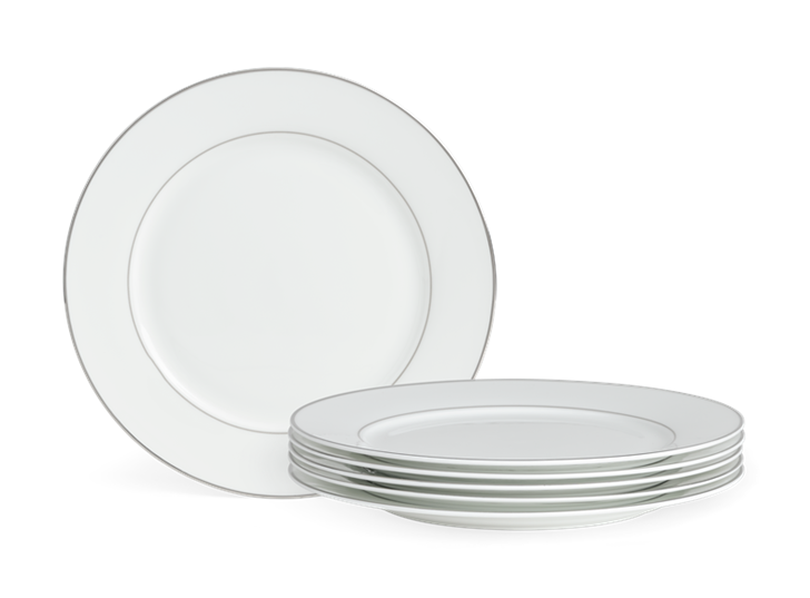 Fenton Dinner Plate Set of 6 Platinum_Stack