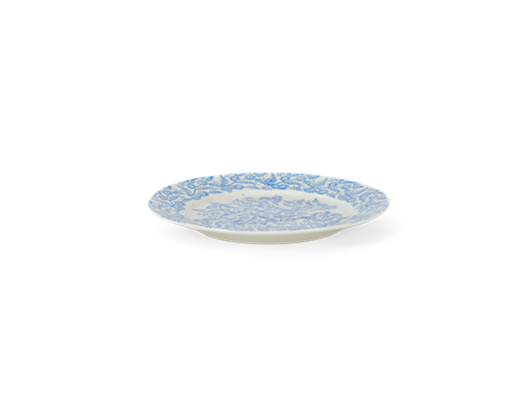 Olney dessert plate, flax blue_side