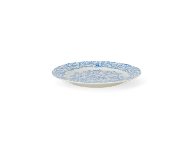 Olney dessert plate, flax blue_side