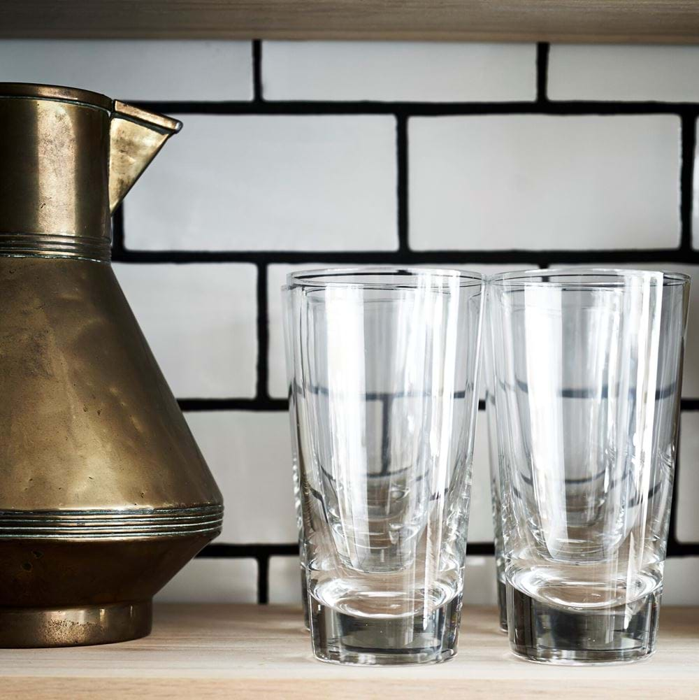 Greenwich tall water glasses on shelf