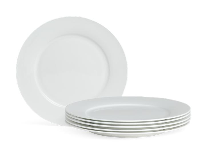 Fenton Dinner Plate Set of 6 White_Stack