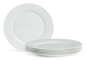 Fenton Dinner Plates, set of 6, White