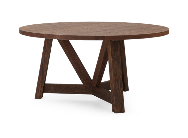 Arundel 150 Round Table Darkened Oak_3Quarter