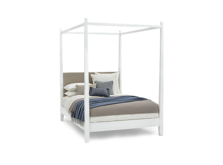 Wardley King Four Poster Snow Holkam Sand Styled 3Q