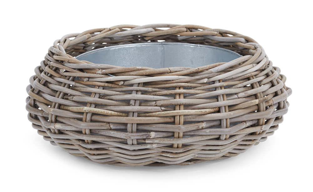 Littleton round Zinc Lined Basket