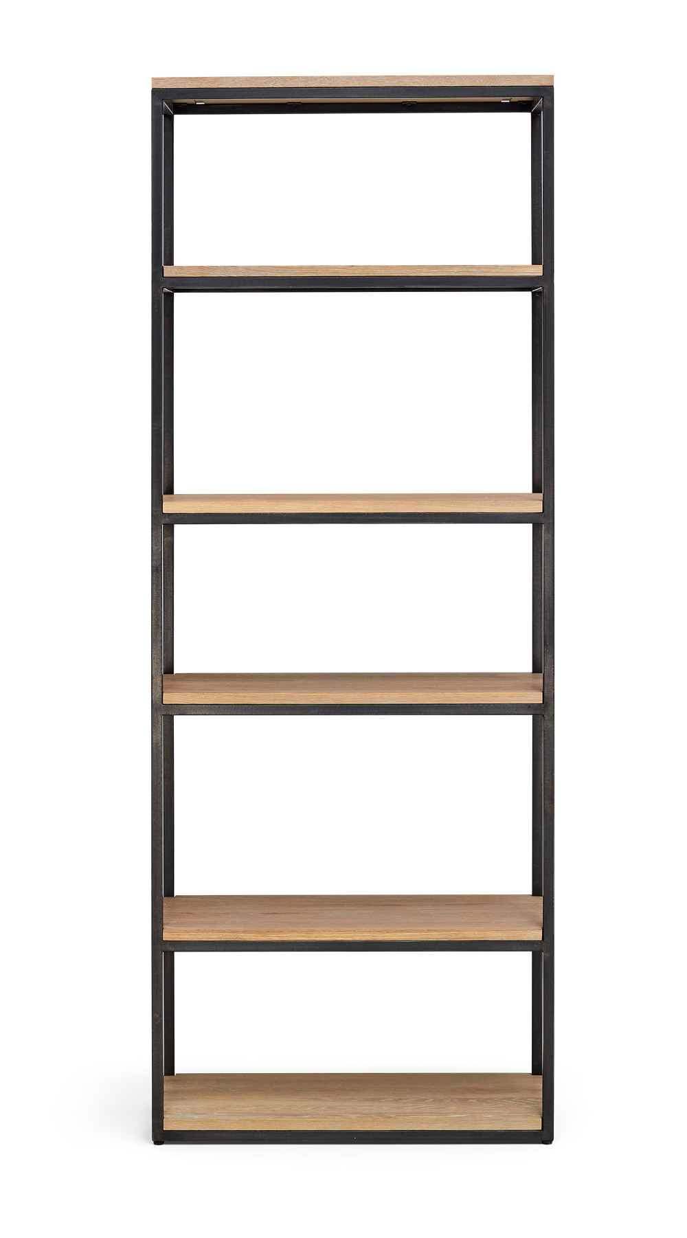 Carter 70 Bookcase Black Steel _ Dark Vintage Oak Front copy