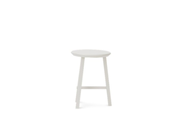 Northwich Painted Stool Silver Birch_Side