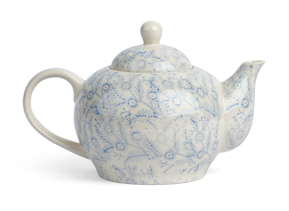 Olney Teapot - Flax Blue 1