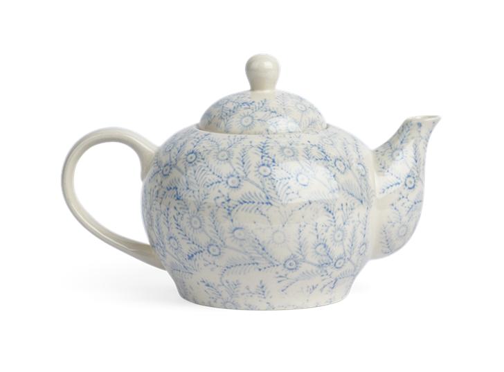 Olney Teapot - Flax Blue 1