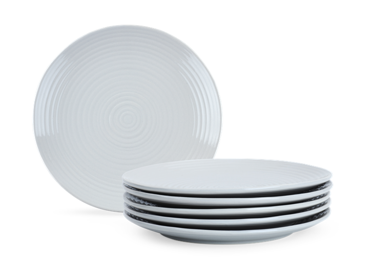 Lewes Dinner Plate Grey_Stack