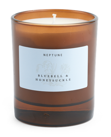 Bluebell and Honeysuckle Candle_Front