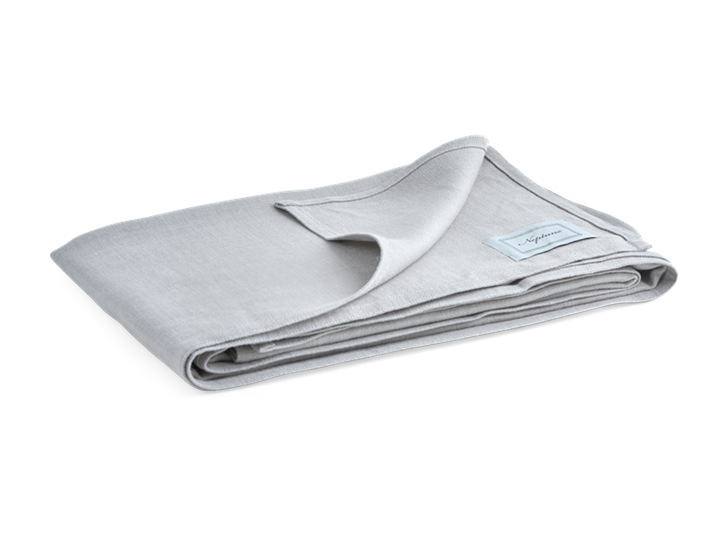 Ardel Linen Bedspread Large Fog_3Quarter Folded