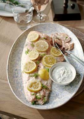 Easter menu salmon