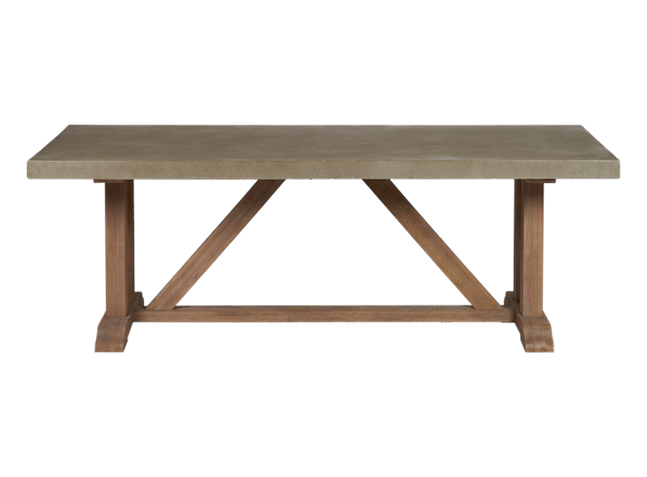 Hove eight-seater rectangular table