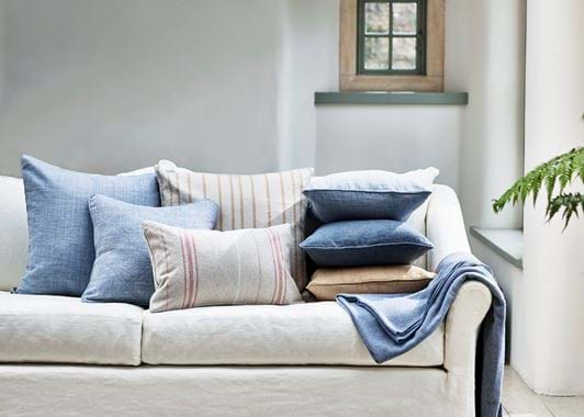 Grace scatter cushion on Long Island sofa