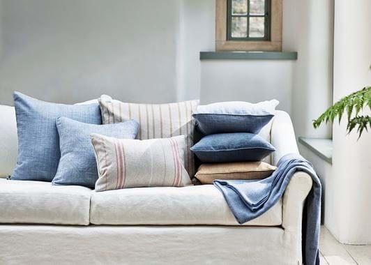 Long Island living cushion stack