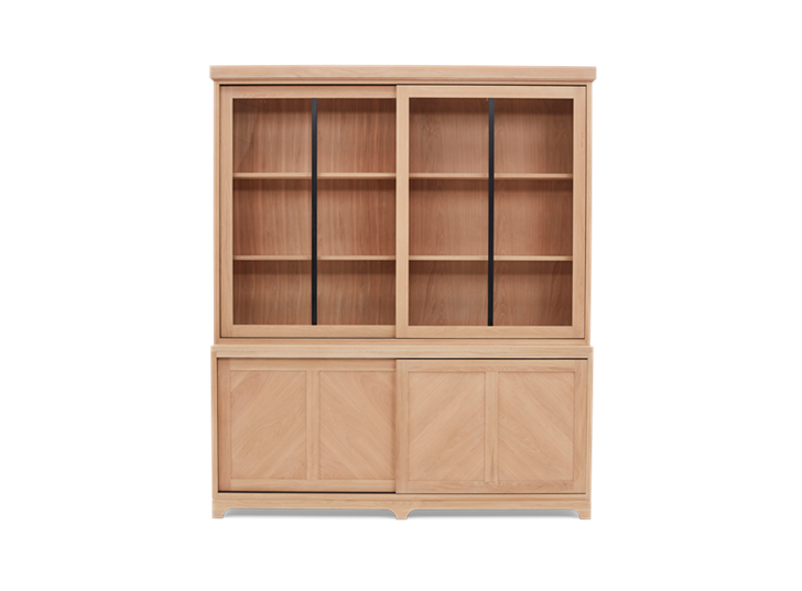 Holborn 6ft Glazed Dresser Natral Oak 001