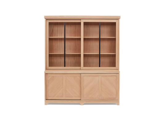 Holborn 6ft Glazed Dresser Natral Oak 001