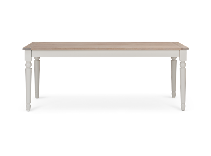 Suffolk 200 Rectangular Table_Silver Birch_Front