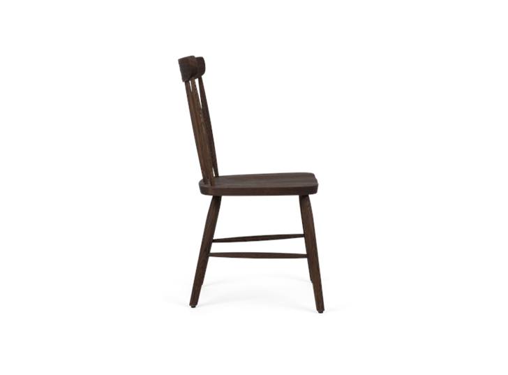 Wardley dining chair, darkened oak, side copy