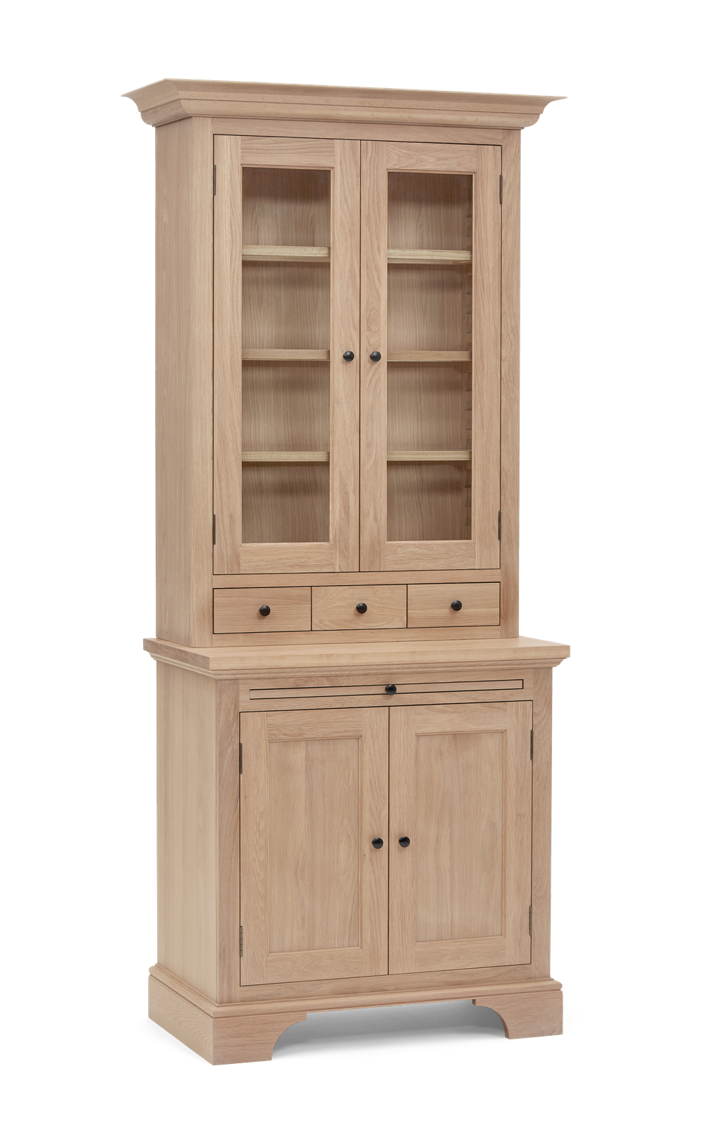 Henley 3ft Glazed Oak Dresser Top 3Q