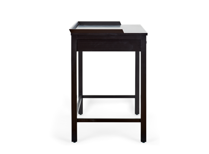 Aldwych dressing table Painted warm black_side