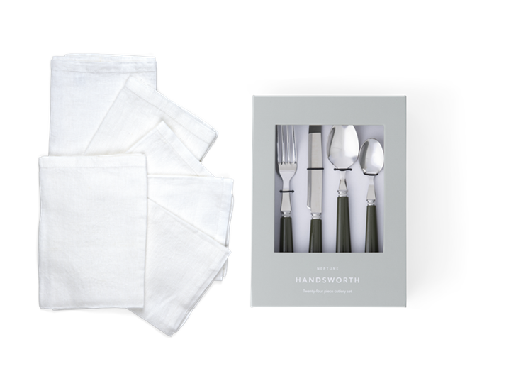 Emily Salt Napkins & Handsworth Olive Option 2