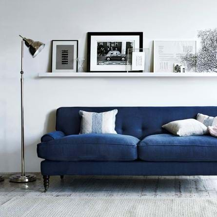 George Sofa with Brompton Lamp