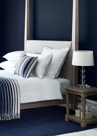 Oak Four-Poster Wardley Bed Navy Interiors
