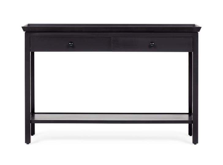 Aldwych large console Warm Black front