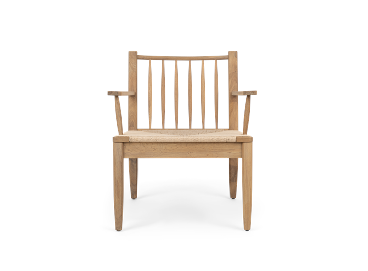 Wycombe, rush spindleback armchair, front copy