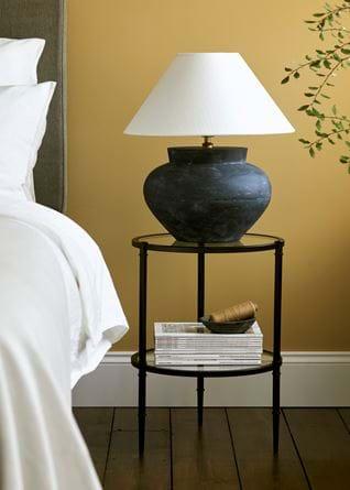 Herstal Medium Lamp Base Saffron Bedroom