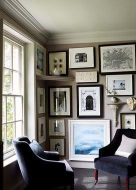 Amelia Armchairs and Print Wall