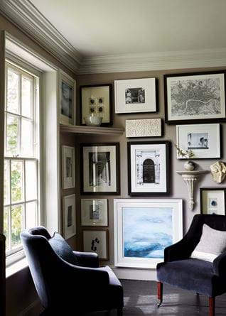 Amelia Armchairs and Print Wall
