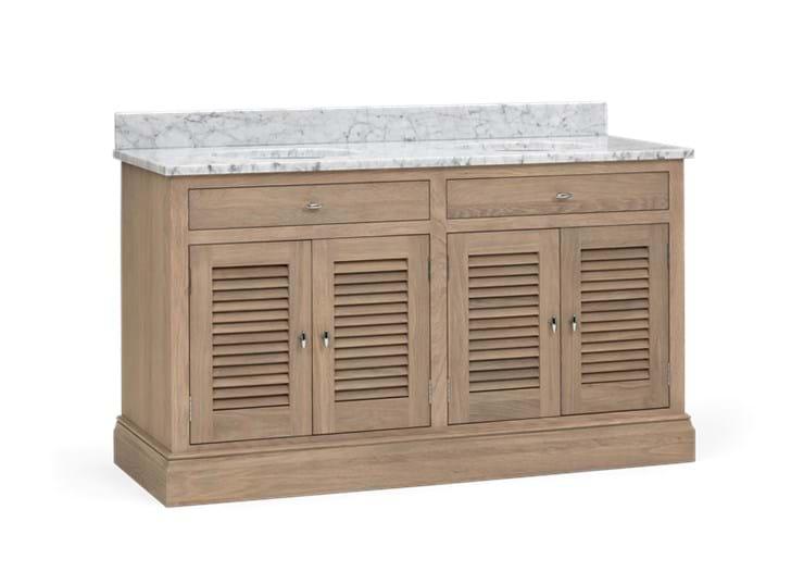 Edinburgh 1490 Dbl Undermount Washstand With Basin-D-Door-VO-Vintage Oak 3Q