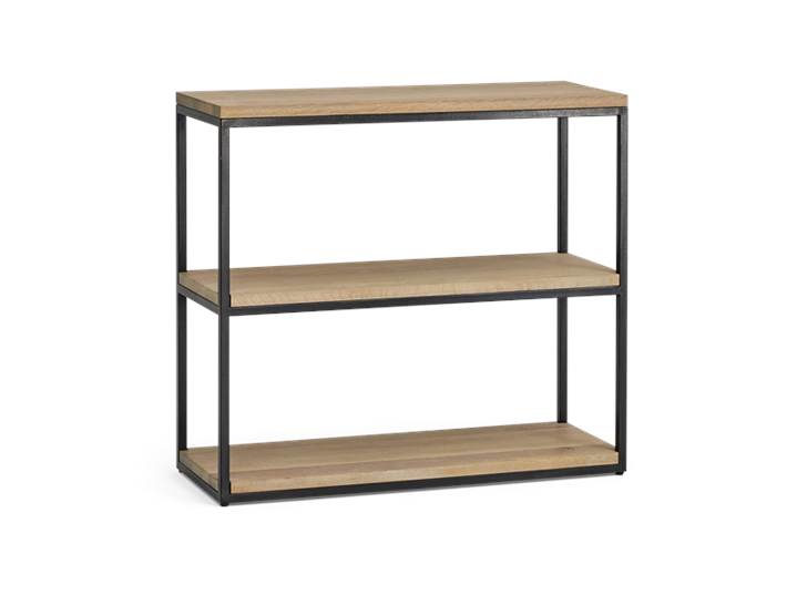 Carter 92 Fitted Shelves Black Steel _ Dark Vintage Oak 3Q copy