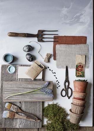 Vintage gardening moodboard