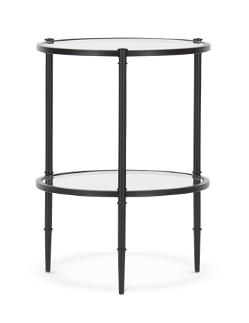 Coniston 42 Tall Round Side Table Black Bronze_Front