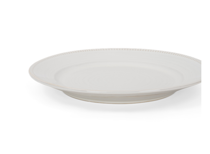 Sutton dessert plate, off white, rim copy