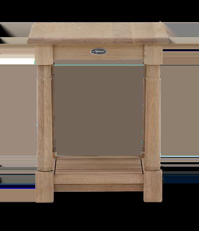 Edinburgh 42 Square Lamp Table Oak Front