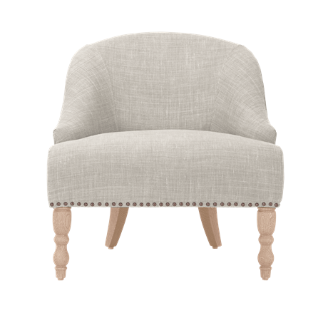 Audrey Chair Pale Oat DO Legs_Front