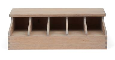 Southwold 5 Bay Divided Cutlery Organiser, Seasoned Oak