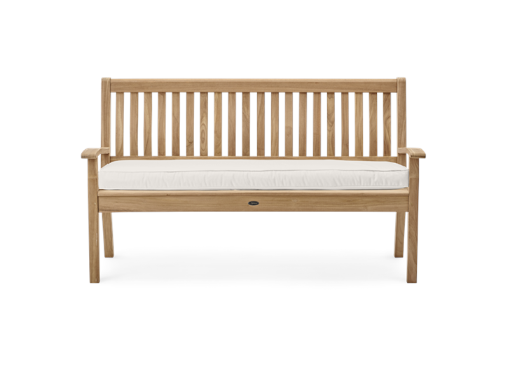 Canterbury 5ft Bench_Wave Back_Front_WithCushionNT