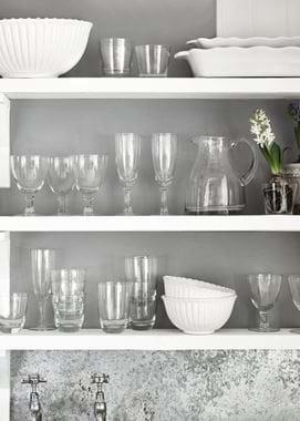 Greenwich glass jug on shelf