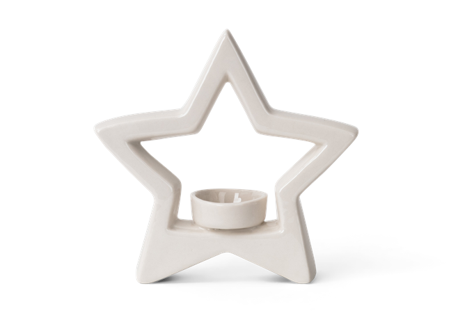 Aster star tea light holder - front