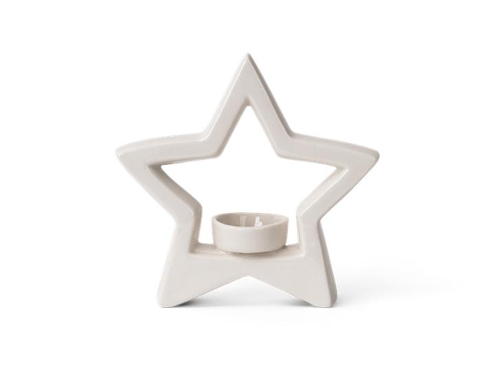 Aster star tea light holder - front