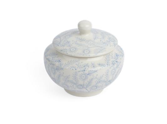 Olney Sugar Bowl - Flax Blue 3