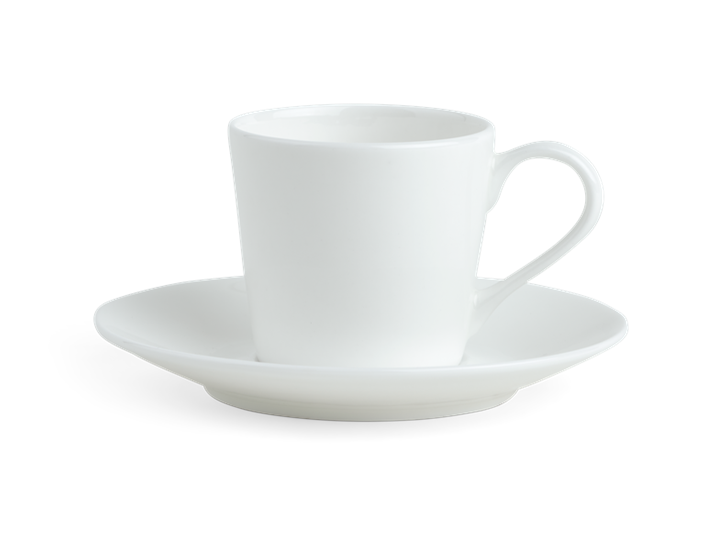 Fenton Espresso Cup and Saucer Set of 6 White_Front
