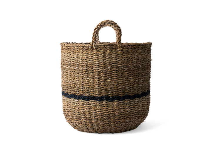 Redford log basket, medium, side