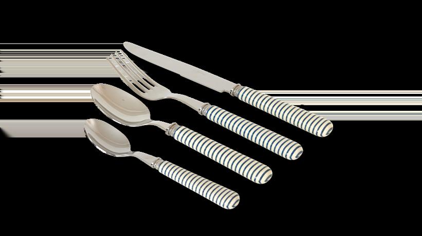 Salcombe cutlery navy stripe unboxed_3quarter
